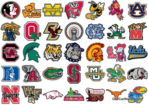 College Sports Decals