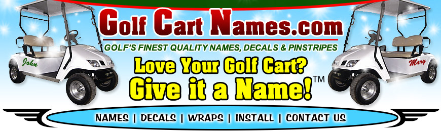 Golf Car Names Navigation